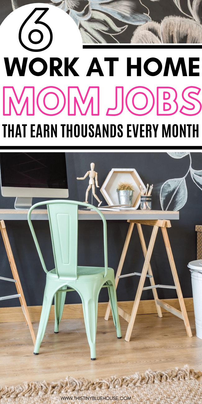 Are you a stay at home mom looking to make money from home? Here are 8 legitimate work at home jobs for moms that allow you to make money from home and stay home with your kids. #jobsforsahm #sahmjobs #onlinejobsformoms #waystomakemoneyfromhome #waystomakemoneyfromhomelegit #waystomakemoneyfromhomemom #waystomakemoneyfromhomeideas