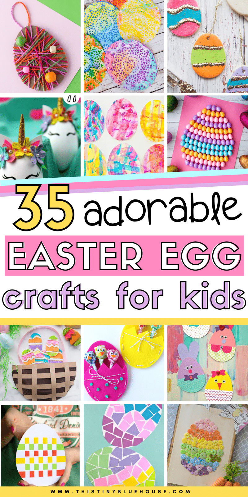 Here are 35 best fun Easter egg crafts for kids that will get you excited about Easter. Easy to make with few supplies these crafts provide hours of fun.