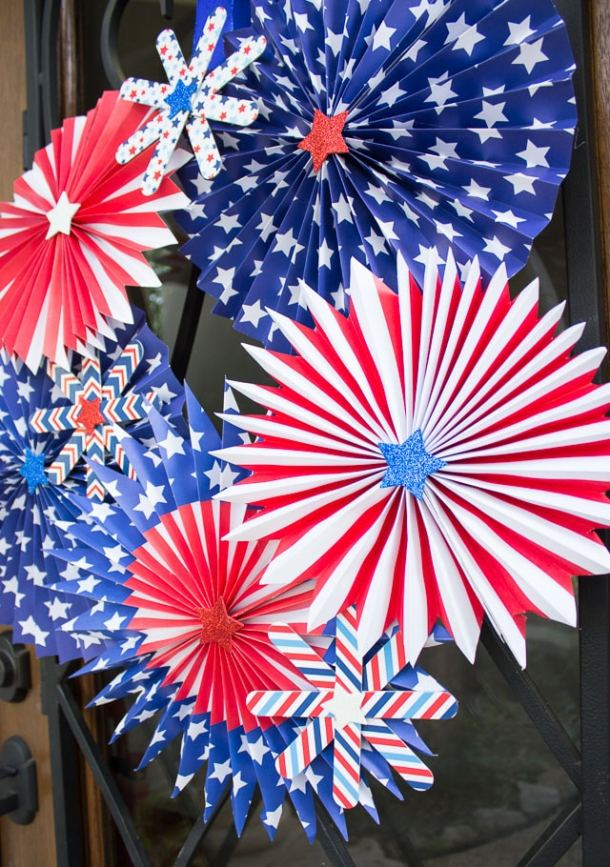 4th Of July Rag Wreath