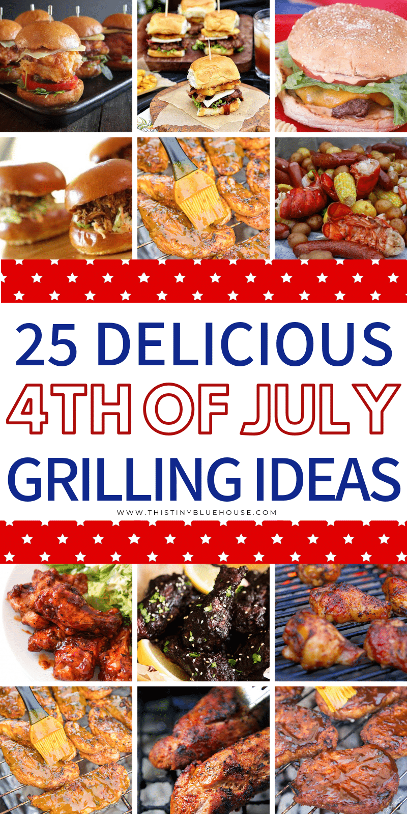 Looking for delicious BBQ Ideas for your 4th of July or Canada Day BBQ? Here are 25 easy and delicious ideas that are perfect for your patriotic cookout. #4thofjuly #4thofjulybbq #4thofjulybbqfood #4thofjulybbqideas #4thofjulybbqmenu #4thofjulybbwrecipes