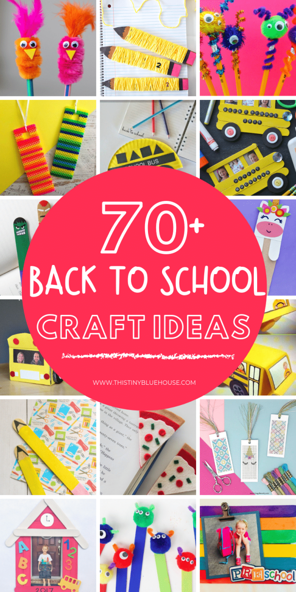 75+ Best Adorable Back To School Crafts For Kids - This Tiny
