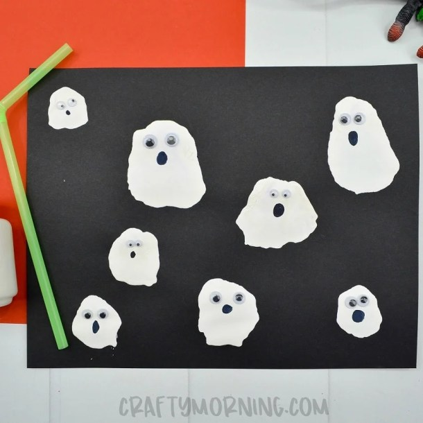 15 Non Spooky Halloween Ghost Crafts for Kids