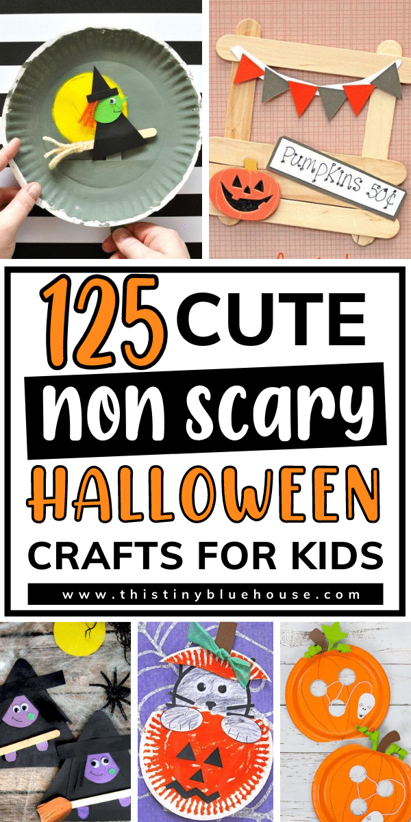 125 Cue Non-Scary Halloween Crafts For Kids
