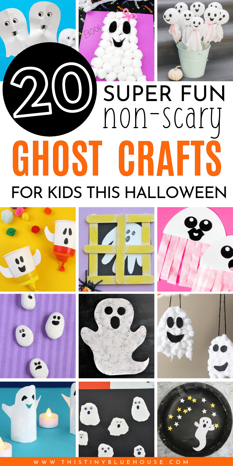here are 30 best cute Halloween ghost crafts for kids that are easy to make and are guaranteed to provide hours of fun for kids.#halloweencrafts #DIYhalloweencrafts #easycraftsforhalloween #besthalloweencraftsforkids #ghostcraftsforkids