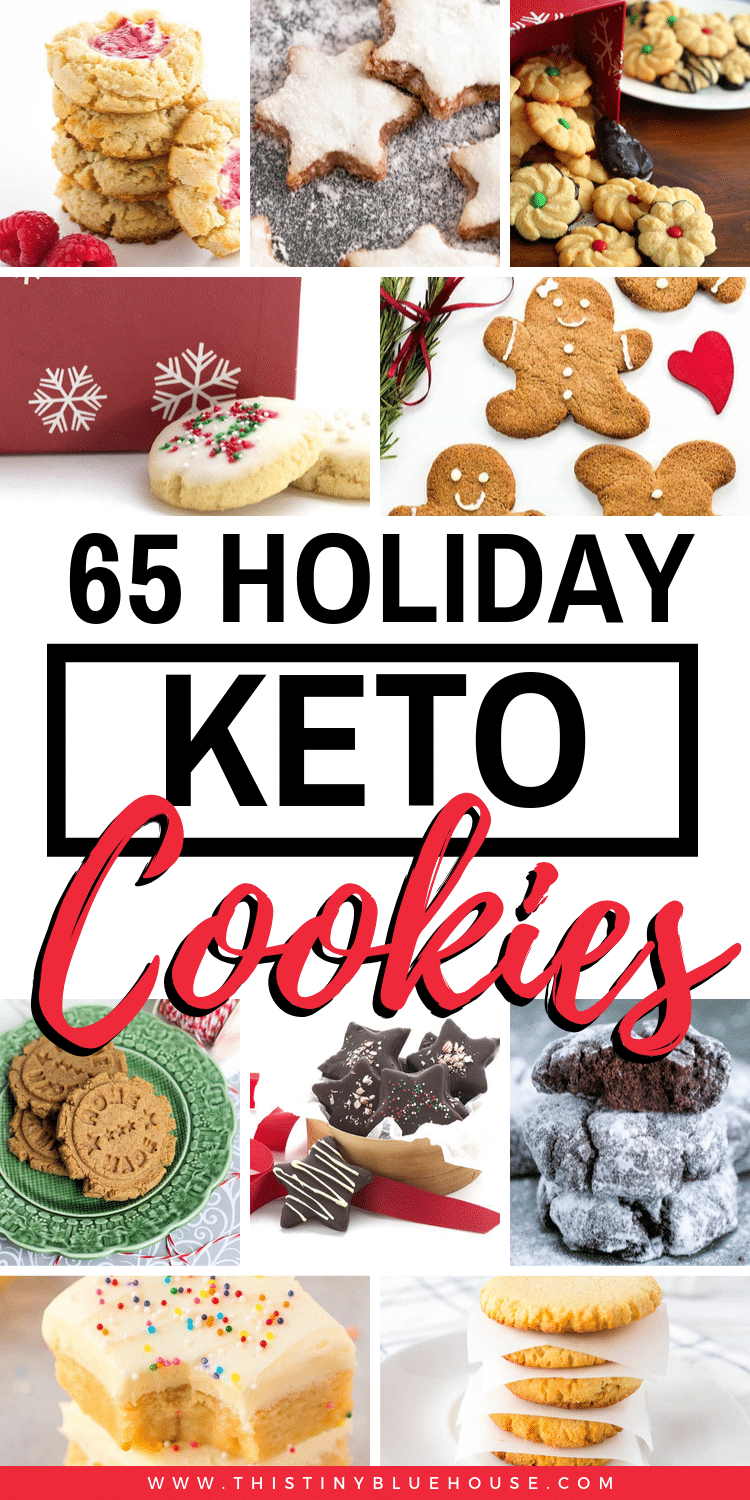 Looking for Keto friendly cookies this holiday season? Here are 65 delicious Keto Christmas Cookies that are perfect for any Christmas party or potluck! #keto #ketocookies #ketocookieseasy #ketocookieslowcarb #lowcarbcookies #bestketocookies #ketochristmascookies #lowcarbchristmascookies #bestketochristmascookies #ketoholidaycookies