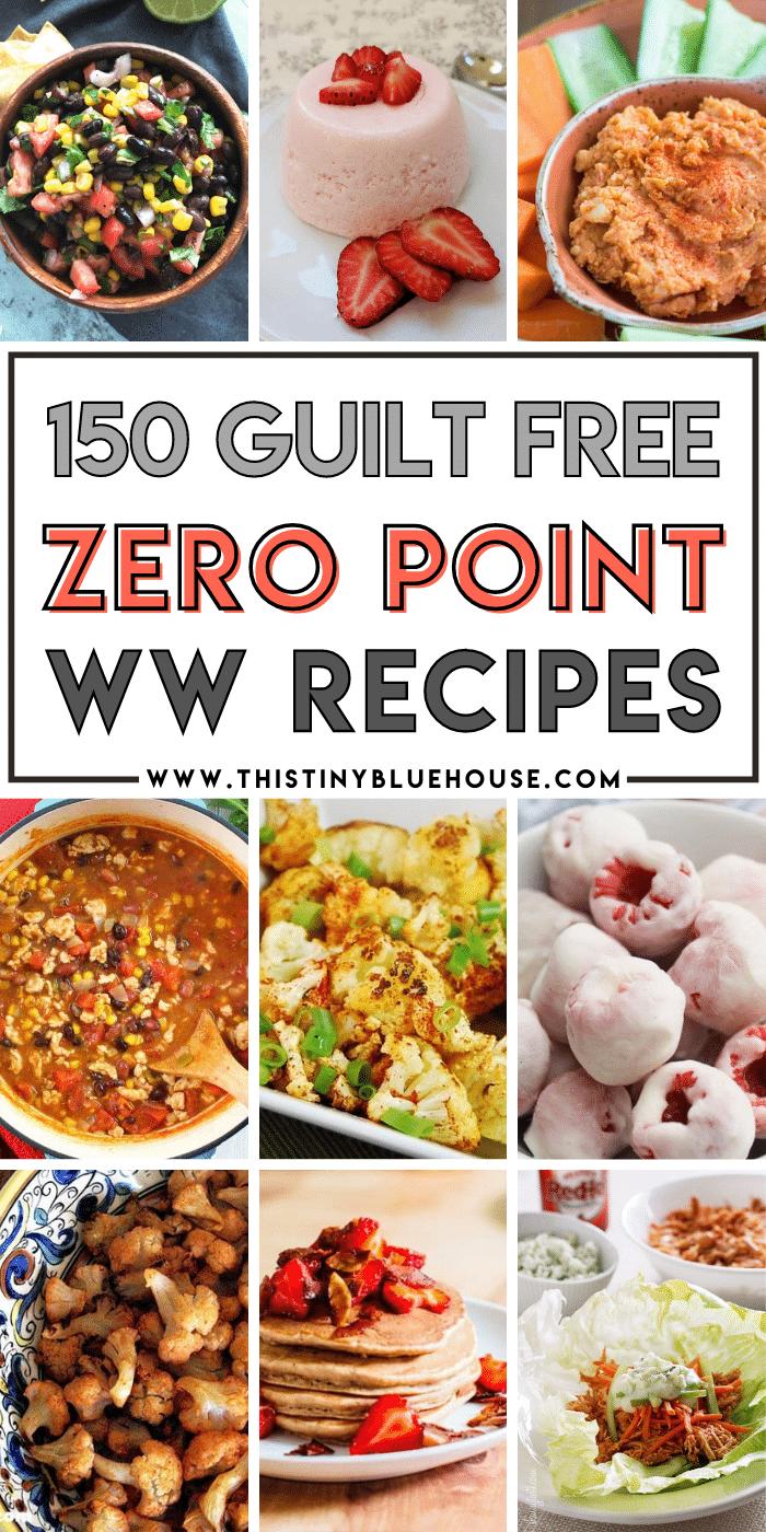 150+ ZERO point Weight Watchers Recipes