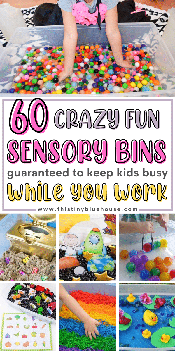 60 Crazy Fun Sensory Bins For Kids