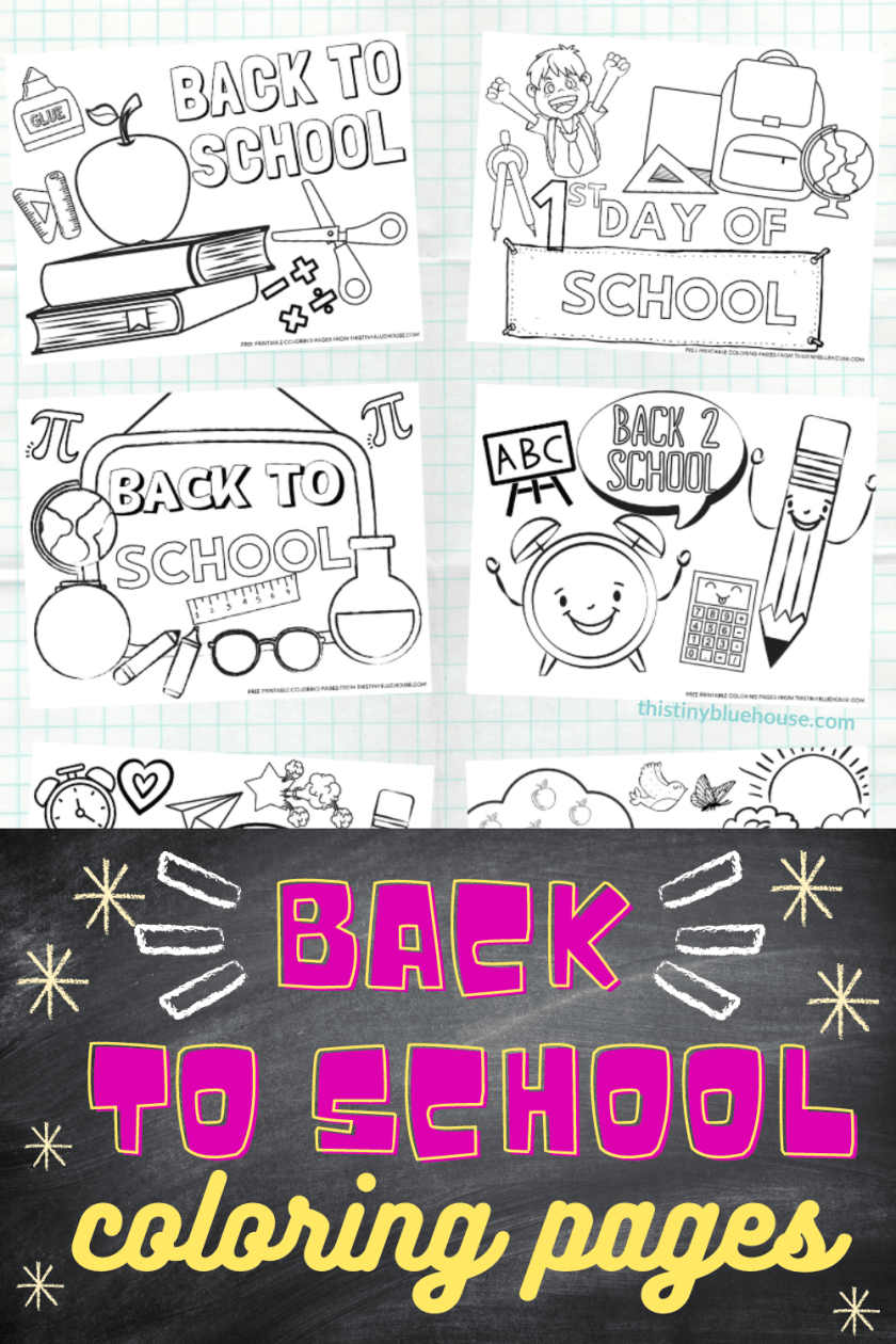 Free Printable Back To School Coloring Pages For Kids (6 Piece Bundle)