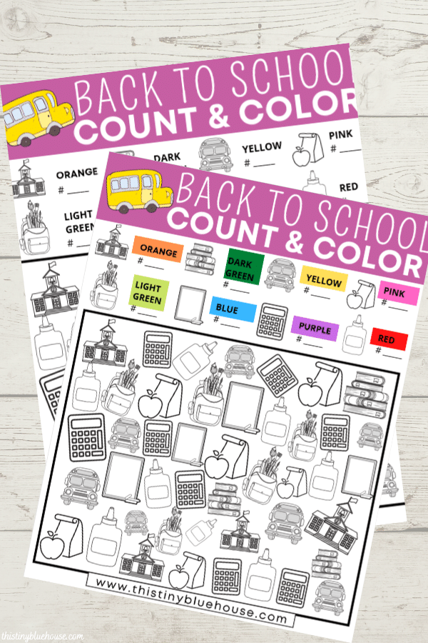 This FREE Back To School I Spy game is a great way to get kids PUMPED about back to school. An engaging printable that also teaches numbers, colors and sorting.