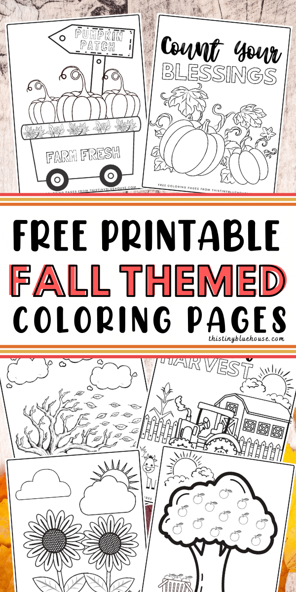 Welcome Fall with these fun free Printable Fall Coloring Pages for kids. These printable autumn coloring sheets are perfect for younger and older kids alike and are a great screen free activity for kids to welcome cooler weather and back to school.