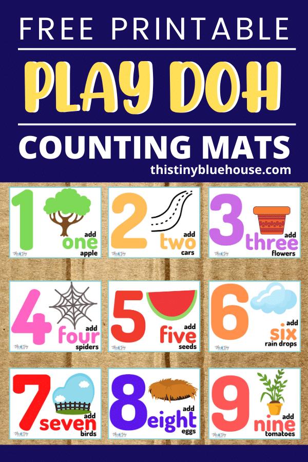Free Printable Play Doh Counting Mats