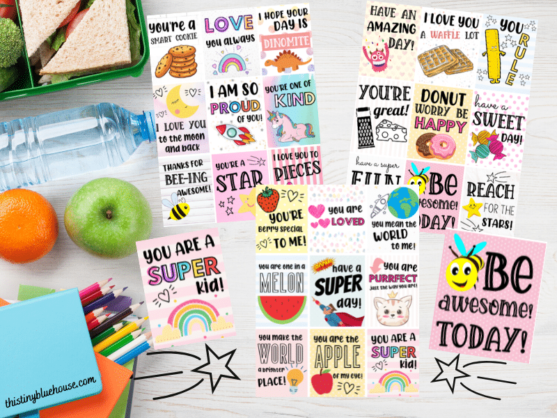 Free Printable Lunch Box Notes For Kids (Super Cute & Sweet)