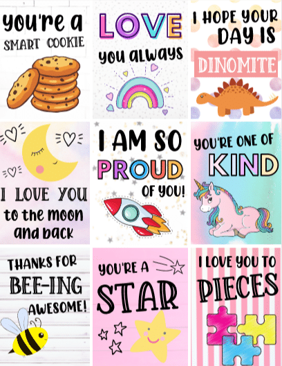 Free Printable Lunch Box Notes For Kids