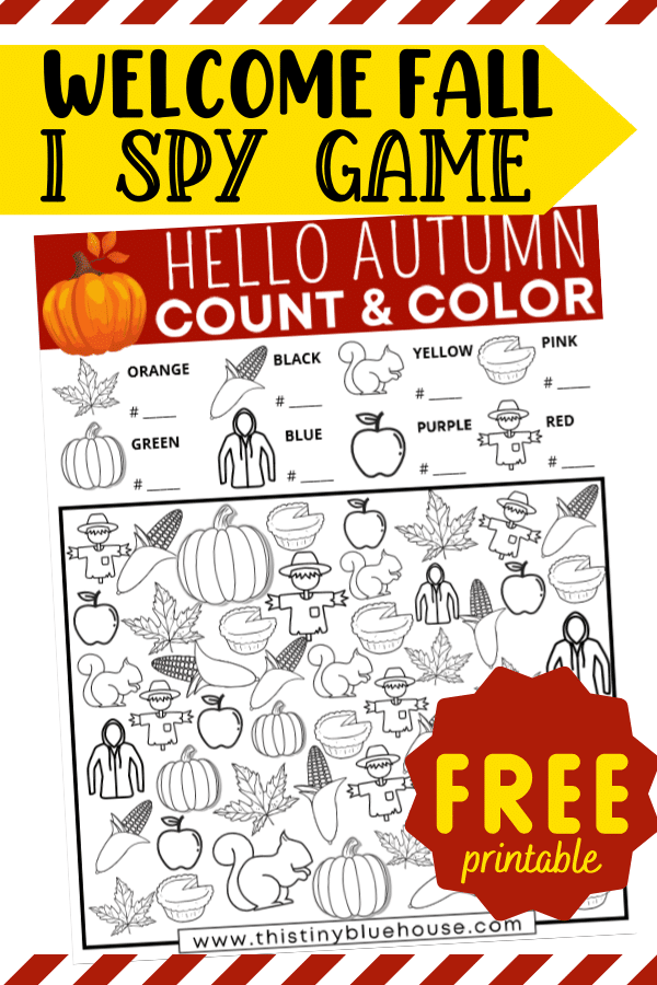 Free Printable Autumn I Spy Activity For Kids