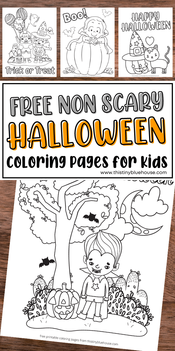 Free Printable Non Scary Halloween Coloring Pages