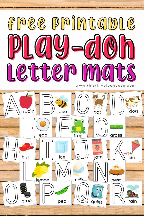 Free Printable (A-Z) Alphabet Play-Doh Mats