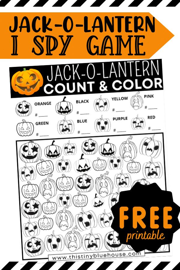 Free Printable Jack-O-Lantern I Spy Game For Kids