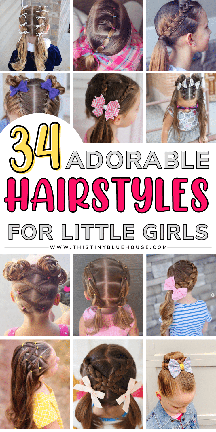 Here are 30+ fun and easy hairstyles for little girls. These easy hairdos for girls are all the rage this year because they are cute and easy!