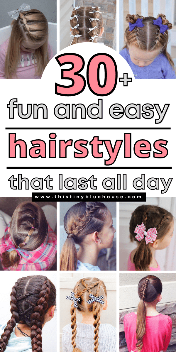 34 Cute and easy hairstyles for girls