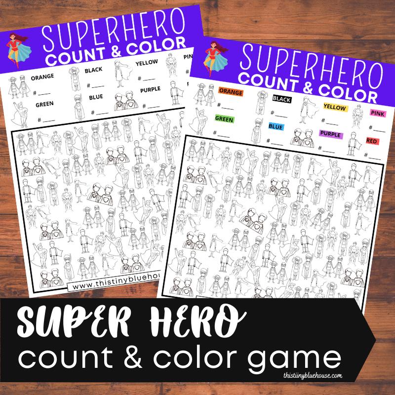Free Printable Superhero I Spy Game