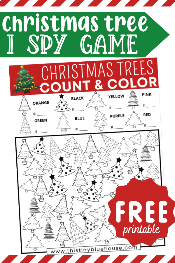FREE Printable Christmas Tree I Spy Game