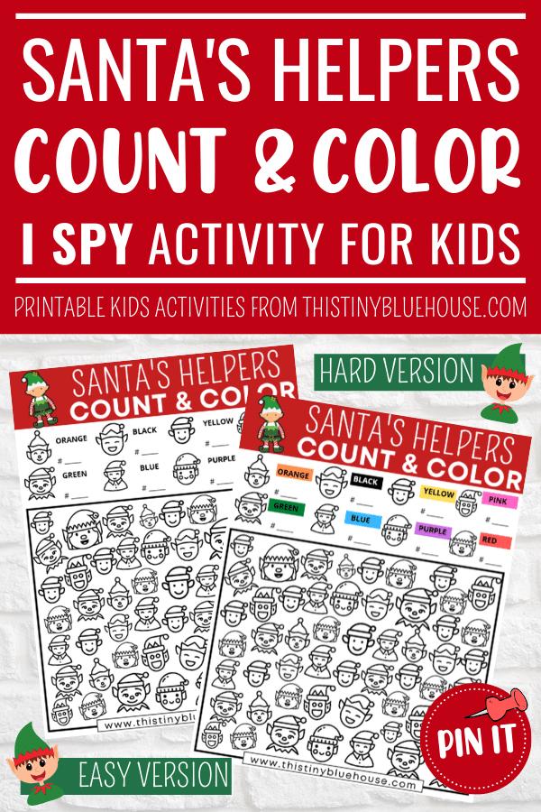 Free Printable Santa's Helpers I Spy Game For Kids