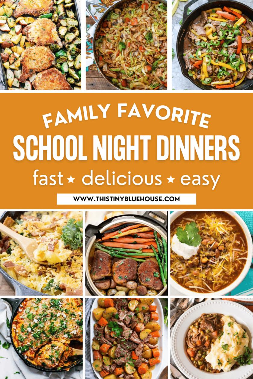 sanity saving school night dinner ideas