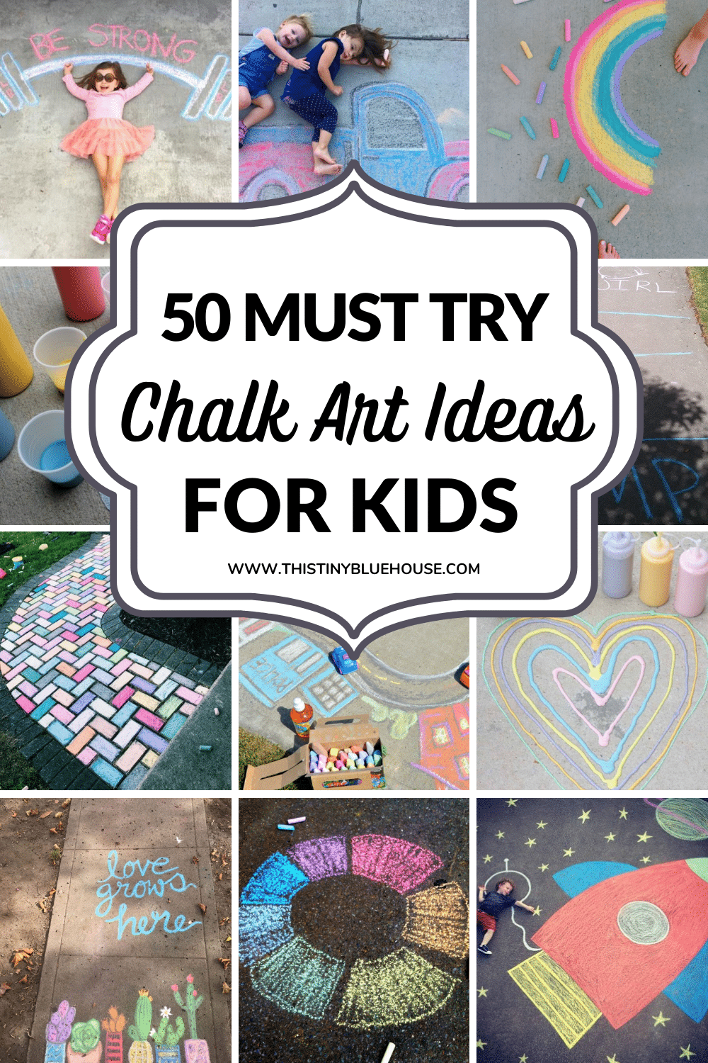 Here are 50 stunning chalk art projects that are guaranteed to inspire you this summer. These fun chalk art projects are a great way to spend warm summer days being creative with the kids.