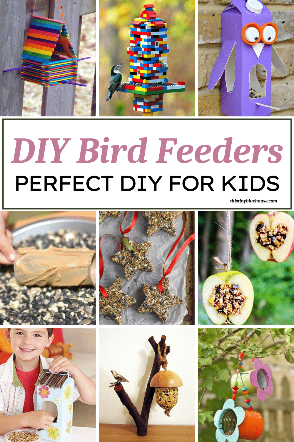 are you looking to add a bird feeder to your property to attract birds to watch? Here are over 25 of the best easy DIY bird feeders that are perfect to make with young kids.