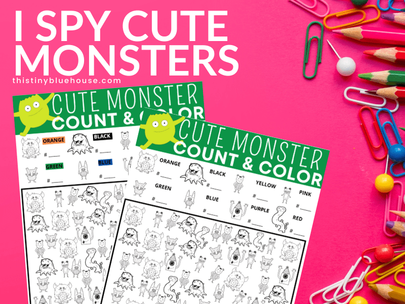 Free I Spy Printables For Kids (The ultimate collection of totally free I Spy Worksheets for kids)