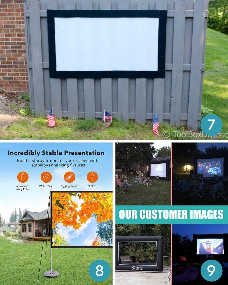 ideas for backyard movie night