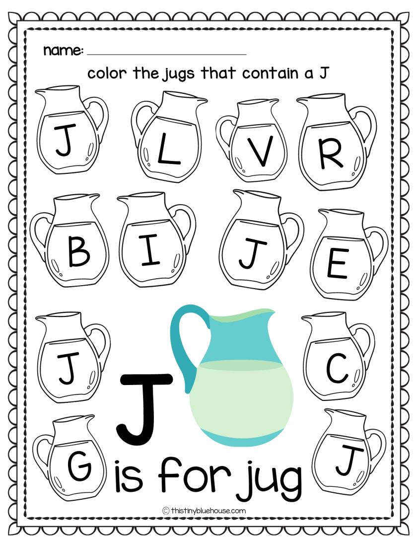 letter recognition worksheets kindergartent