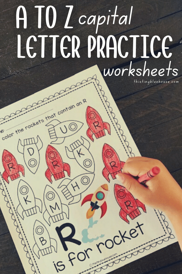 printable a to z letter recognition worksheets