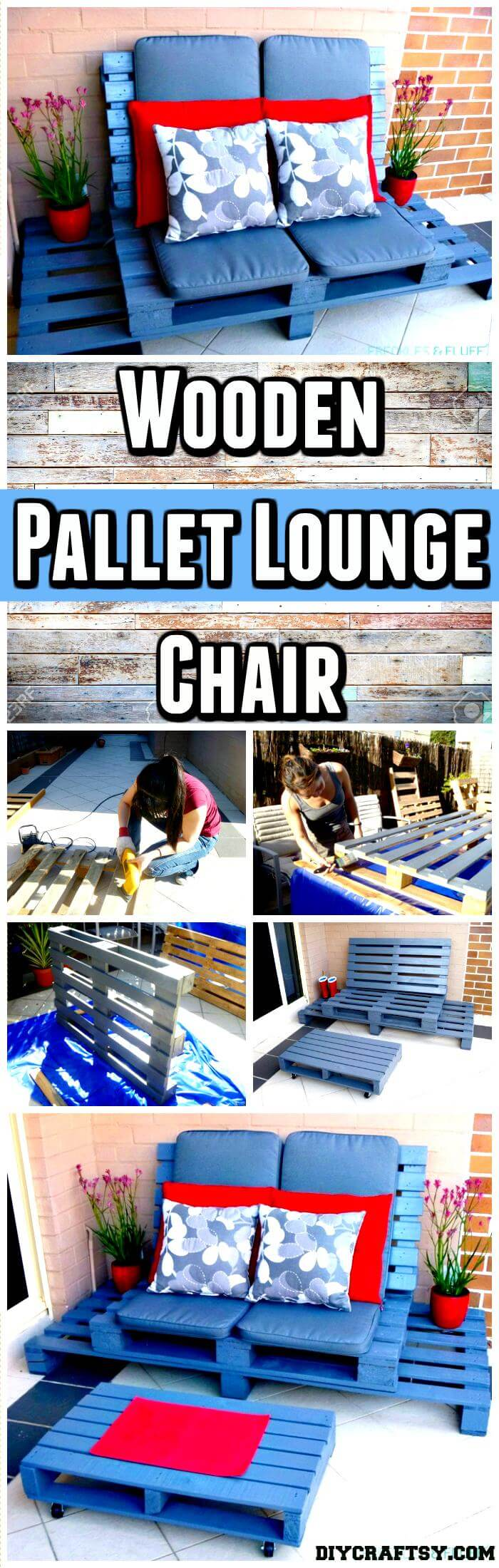 wood pallet lounge chair