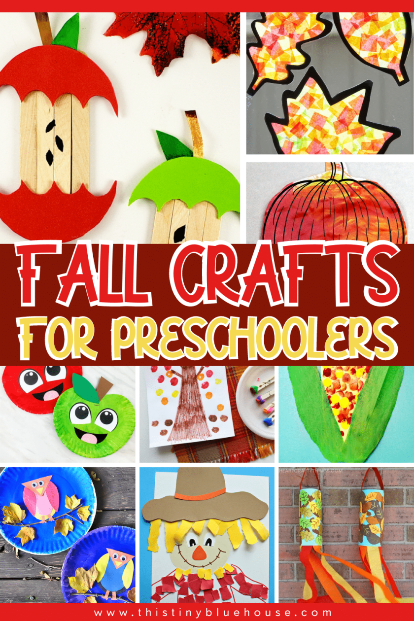 Help your preschooler celebrate the arrival of autumn with these fun low mess fall crafts for preschoolers that are a great screen free craftivity for children as young as 3.