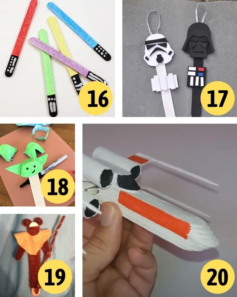 star wars popsicle crafts