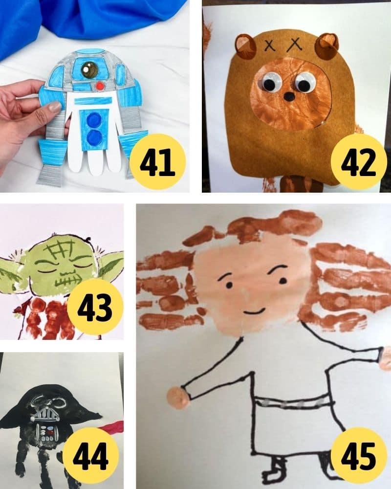 hand print star wars crafts