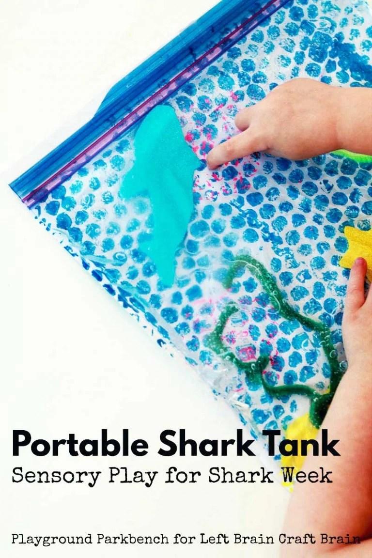 shark sensory play