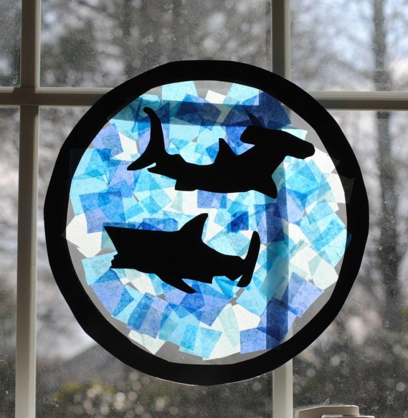 shark suncatcher craft idea