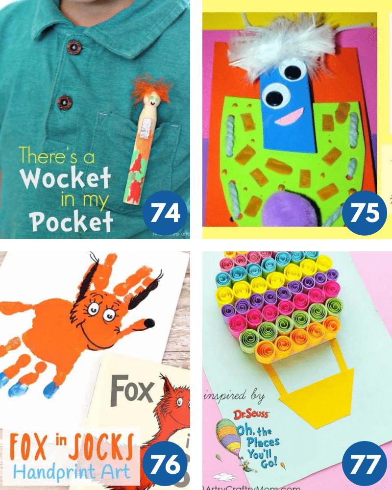 Dr Seuss crafts for kids