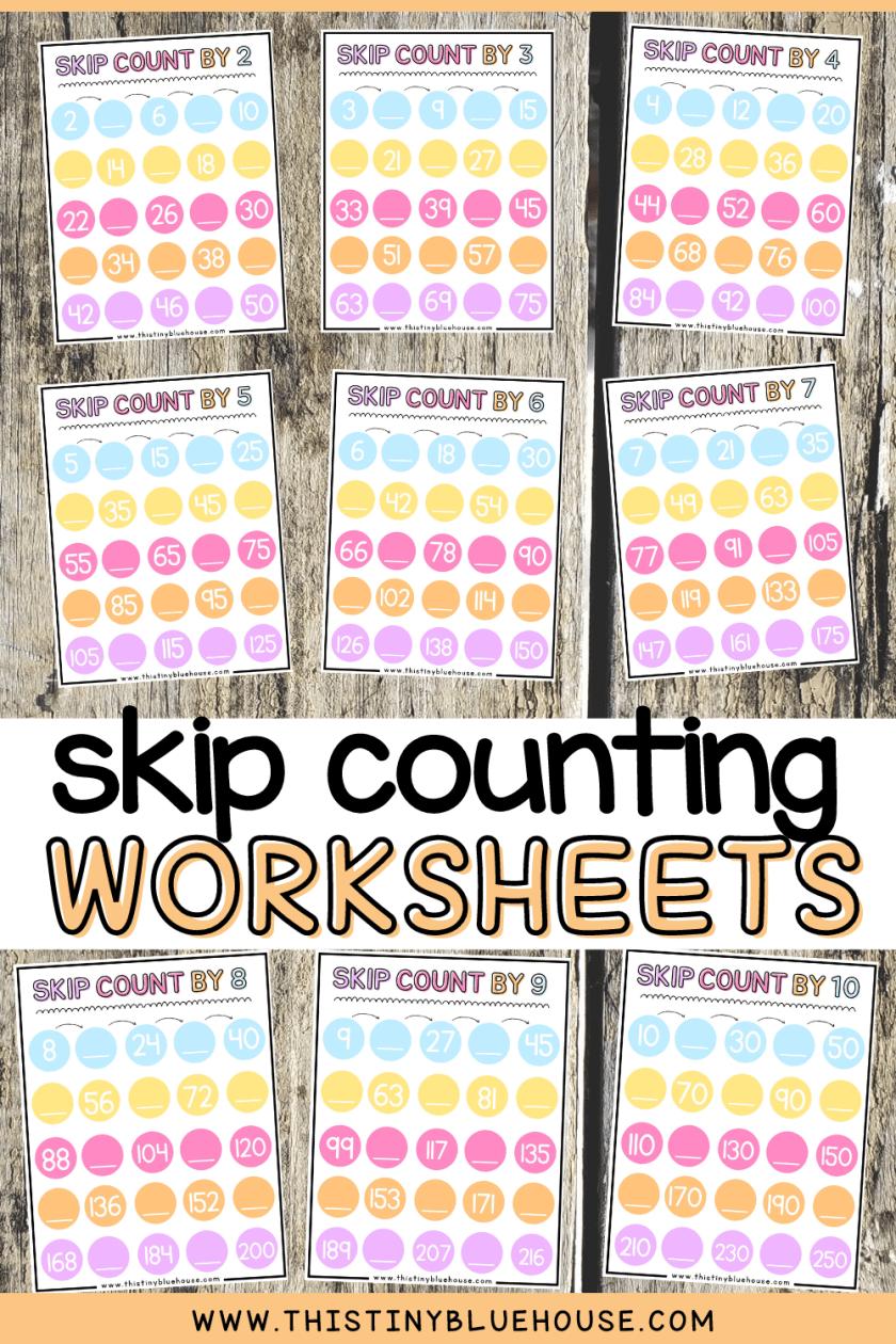 free printable skip counting worksheets