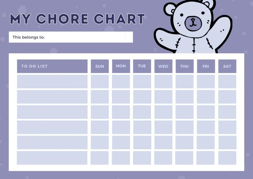chore chart templates