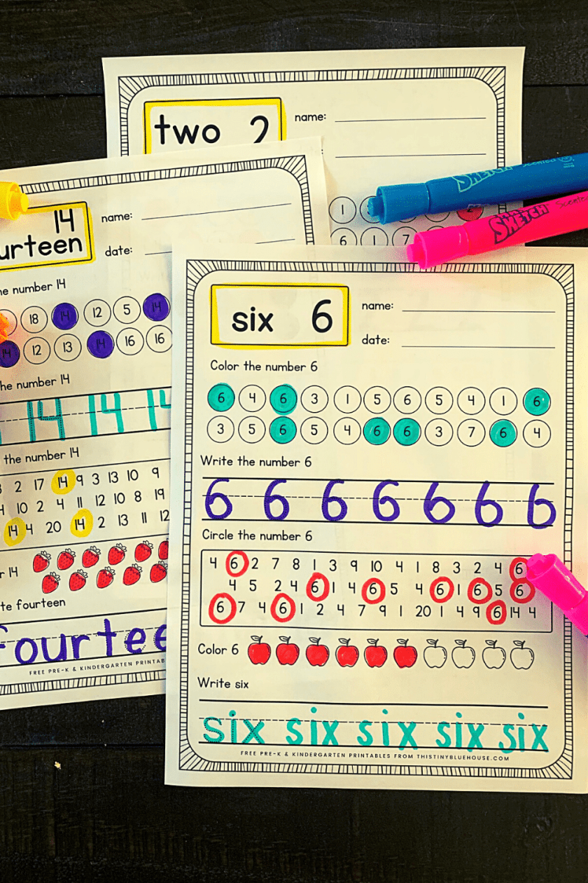 writing number practice