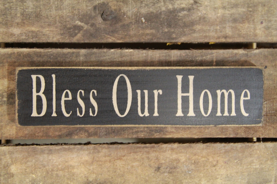 Bless Our Home Sign Wood Block