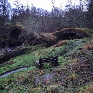 Packhorse bridge in glenlivet, just around the corner from us