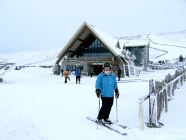 Andy at Lecht Ski Centre just up the road!