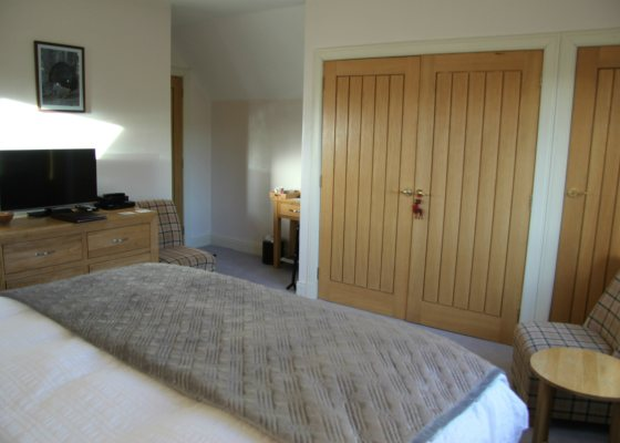 Room 3 - Capercaille. Super king size double or luxury twin beds with ensuite