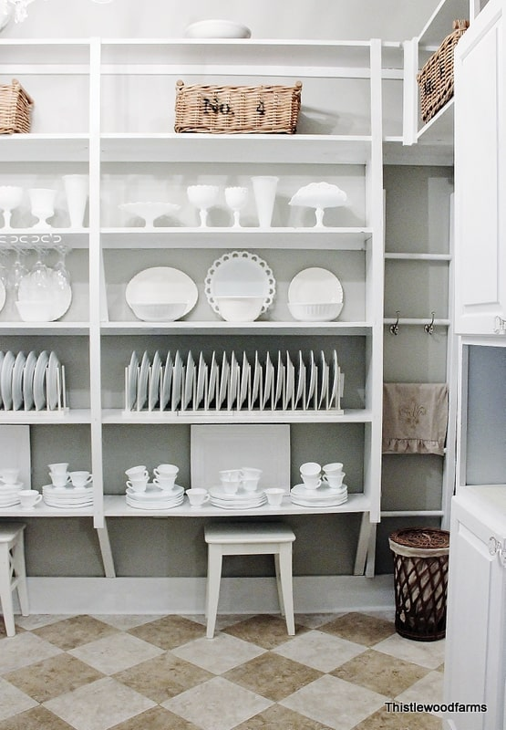 This butler's pantry is a great change from the tired look it used to have!