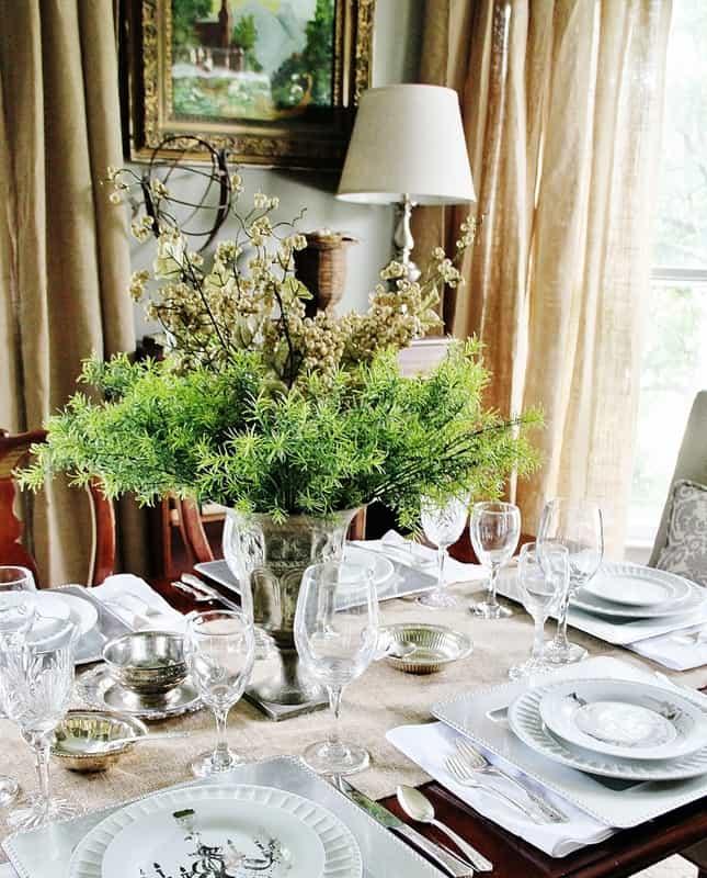Burlap Curtain: how to smock curtains with Thistlewood Farm on Farmhouse Dining Room Curtains  id=33288