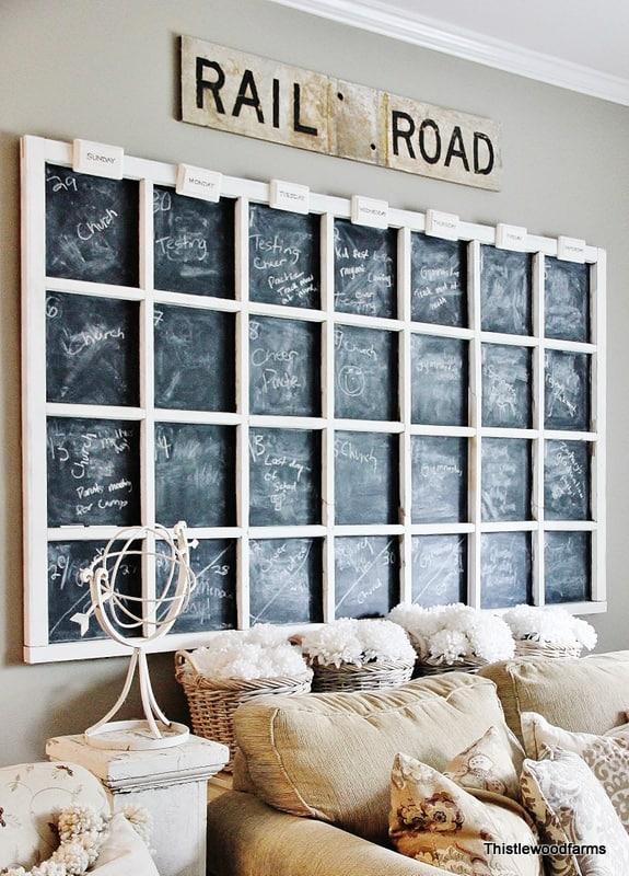Chalkboard Gallery Wall